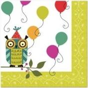 Birthday Birdies Owl Party Lunch Napkins