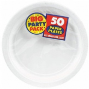 Frosty White Big Party Pack - Dessert Plates
