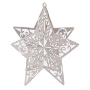 3-D Glittered Star Centrepiece (silver) Party Accessory (1 count)