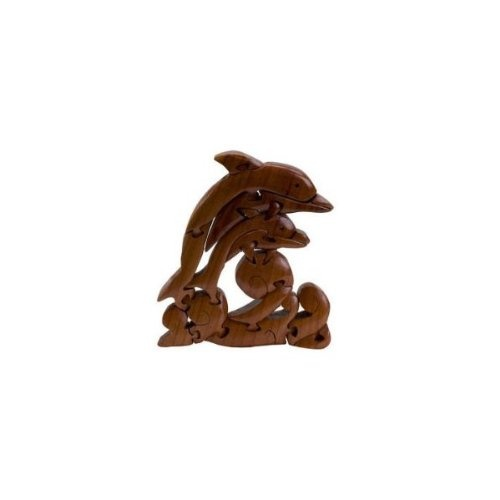 Dolphin Wave 3D Wooden Puzzle Brain Teaser. CHH. Shipping is Free
