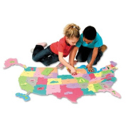 Creativity Street® - Wonderfoam Giant U.S.A Puzzle Map, 73 Pieces - Sold As 1 Pack - Make geography fun for kids!