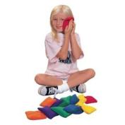 School Smart Soft Fleece Bean Bags - 10cm  - Set Of 12 - 6 Colours