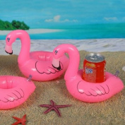 Pink Inflatable Pool Tropical Flamingo Floating Coasters