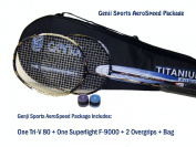 Genji Sports Aero Speed Badminton Package, Right, Small/Long, Black/White