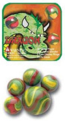 Mega Marble- 24 Collectible Marbles,1 Shooter, Net bag- Dragon