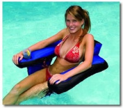 Fabric Covered U-Seat Inflatable Swimming Pool Chair