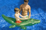 160cm Water Sports Croc Attack Inflatable Ride-On Croccodile Water Squirter Toy