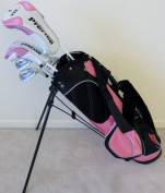 Girls Junior Golf Club Set with Stand Bag for Kids Ages 8-12 Pink Colour Right Handed Premium Professional Quality