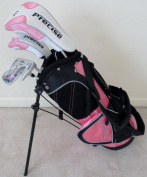 Girls Junior Golf Club Set with Stand Bag for Kids Ages 3-6 Pink Colour Right Handed Premium Professional Quality