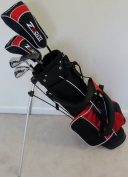 Boys Right Handed Junior Golf Club Set with Stand Bag for Kids Ages 8-12 Red Colour Premium Jr. Professional Quality