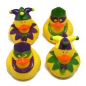 One Dozen (12) Rubber Duckie Ducky Duck MARDI GRAS Party Favours