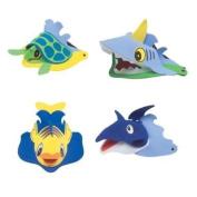 ~ 4 ~ Sea / Ocean Animal Visors ~ Foam ~ New ~ Dolphin, Turtle, Shark, Fish