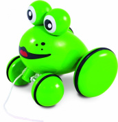 "Vilac 1801 Wooden Toy With Pulling Cord ""Youpla The Frog"""