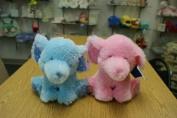 10 PINK/BLUE RATTLE ELEPHANT
