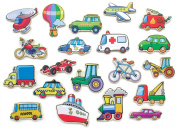 Pierre Belvedere Toy Magnetic Wooden Shapes - Transportation