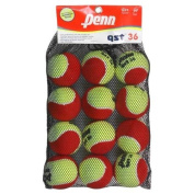 Penn QST 36 Felt Red Tennis Balls, 12 Ball Mesh Bag