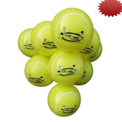 10 - Le Petit Tennis - My First Tennis Ball (15cm Inflatable Tennis Ball - Pack of 10 + Handy Pump)) for Ages 2-6