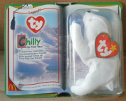 McDonalds TY Beanie Babies Chilly the Polar Bear Stuffed Animal Plush Toy, 13cm long