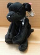 TY Beanie Babies Luke the Black Labrador Dog Stuffed Animal Plush Toy - 15cm long