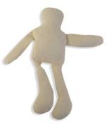 13cm Tall Stuffed Natural Muslin Gender Neutral Craft Dolls- Package of 6