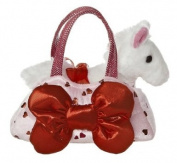 Aurora World Toy Pet Carrier Plush, Big Bow