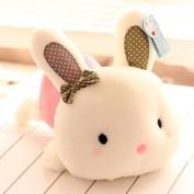 Cute Pink Doll Plush Toy Stuffed Animal Cushion Lumbar Pillow Rabbit Gift 20cm