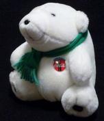 Coca Cola Polar Bear Plush Toy Green Muffler