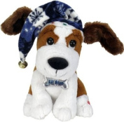 """Chantilly Lane 25cm Littile Blue Dog with Flapping Ears Sings """"Blue Christmas"""""""