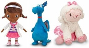 Disney Store/Disney Jr. Doc McStuffins Plush Doll Gift Set Including Doc McStuffins, Stuffy and Lambie Stuffed Animal Toys