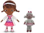 Disney Doc Mcstuffins Dottie Plush 12 1/2'' & Lambie Plush 18cm Playset