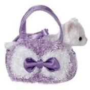 Aurora World Fancy Pals Lavender Curly Plush Toy Pet Carrier