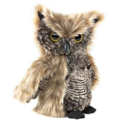 Screetch Owl Turning Head Puppet by Folkmanis - 2961