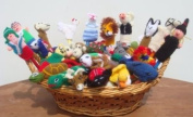 NEW ARRIVAL PERUVIAN ASSORTMENT VARIETY OF ANIMALS, INSECTS, BIRDS AND PEOPLE 10 FINGER PUPPETS TOYS HAND KNITTED