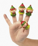 Christmas Elves Finger Puppets - 24 Count