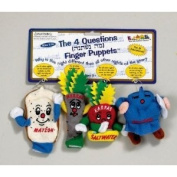 Passover Mah Nishtanah Finger Puppets - The Four Questions - Set Of 4