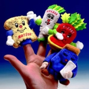 Rite Lite TYPP-PUP-PAS Finger Puppets - Set of 4- Pack of 6