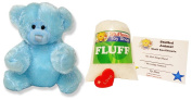 Make Your Own Stuffed Animal Mini 20cm Baby Blue Teddy Bear Kit - No Sewing Required!