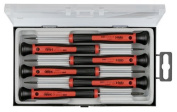 Felo 0715731844 Set of 6 Slotted & Phillips Precision Screwdrivers, 240 Series