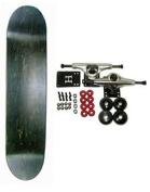 BLANK COMPLETE Skateboard BLACK 20cm Skateboards HOT!!