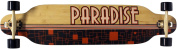 Paradise Black Ocean Complete Longboard, 26cm x 100cm