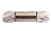 White 180cm Waxed Skate Lace - Derby Laces Roller Derby