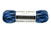 Blue Camouflage 180cm Waxed Skate Lace - Derby Laces Roller Derby