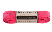 Hot Pink 180cm Waxed Skate Lace - Derby Laces Roller Derby