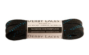 Black 180cm Waxed Skate Lace - Derby Laces Roller Derby