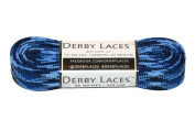 Blue Camouflage 240cm Waxed Skate Lace - Derby Laces Roller Derby