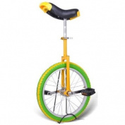 46cm Mountain Bike Wheel Unicycle with Quick Release Adjustable Colour Lemon