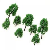 16Pcs Model Pine Tree Train Set Scenery HO Scale