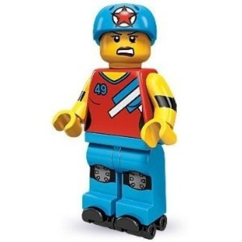 Lego 71000 Series 9 Minifigure Roller Derby Girl. Free Shipping