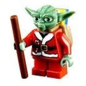 Christmas Yoda LEGO minifigure