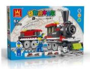 TRAIN Toy - BUILDING BLOCKS 136 pcs set LEGO parts compatible, Boys Christmas Gift